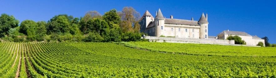 les vignes et le château de Rully