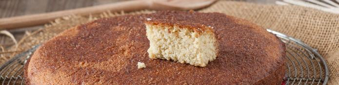 Un gâteau à la semoule de millet