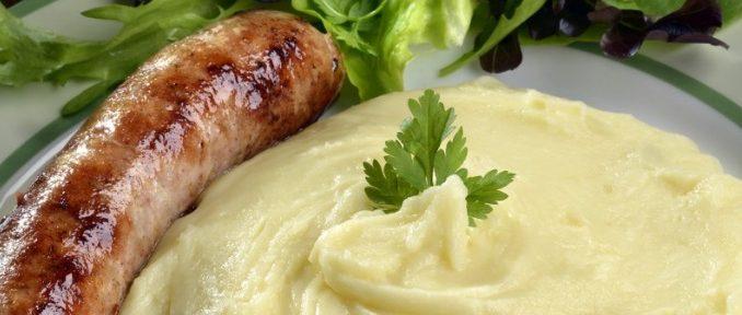 Saucisse de Toulouse accompagnée d'aligot